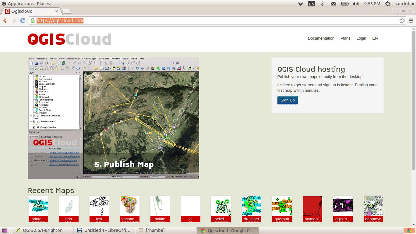 Publishing maps using QGIS Cloud