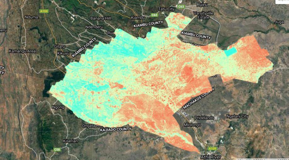 Computation of NDBI in Google Earth Engine